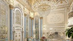Pompous luxury interior Hall Interior, Mansion Interior, Luxury Homes Interior, Interior Design Gallery, Interior Design Companies, Modern Interior Design, Luxury Kitchen Design, Entrance Design, Luxury House Plans