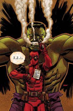 Hulk ( Avengers ) // Marvel // Art // vs Deadpool