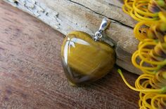 Tiger Eye Pendant Heart by SheEarth on Etsy Tourmaline Stone, Black Tourmaline, My Gems, Gemstone Jewelry, Unique Jewelry, Pink Opal, Bracelet Sizes, Crystals And Gemstones, Stone Pendants