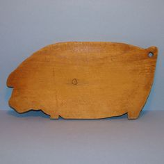 Old Primitive Wooden Pig Cutting Board Rare Head Down Tiny Legs Rustic Farmhouse…