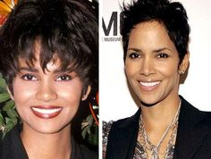 Halle Berry keep the plastic surgery rumor in private, but she got the new nose very well. Her nose seem very perfect as the indication she spent much money for nose job. Body Plastic Surgery, Plastic Surgery Photos, Daily Hairstyles, Trending Hairstyles, Scar Makeup, Facial Cosmetic Surgery, Celebrity Plastic Surgery, Celebrities Before And After, Halle Berry