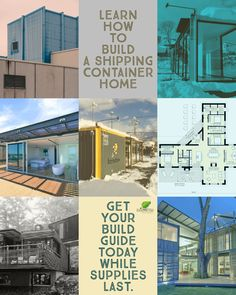 The best Shipping Container Home Guide out there on the internet to get you started in the right direction today on building a Container House. #containerhouse #containerhome #freecycleusa Building Code, Building Ideas, Building Plans, Building A Container Home, Container House Design, Shipping Container House Plans, Building Department, House Blueprints, Aesthetic Design
