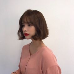 32 Layered Bob Hairstyles : Add These Hot Layers to Your Haircut Now - Style My Hairs Bob Hairstyles For Thick, Permed Hairstyles, Hairstyles With Bangs, Choppy Hair, Short Hair With Bangs, Hair Bangs, Medium Hair Styles, Curly Hair Styles, Korean Short Hair