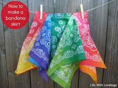 How To Make A Bandana Twirl Skirt - Just a few simple materials and 10-15 minutes is all it takes to make this skirt!