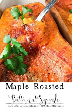 This Maple Roasted Butternut Squash recipe has only 5 minutes of preparation and ready in 1 hour. It is an easy and delicious side dish Paleo Recipes Easy, Side Dish Recipes, Great Recipes, Side Dishes, Vegetarian Recipes, Dinner Recipes, Party Recipes, Vegetable Recipes, Cooking Recipes