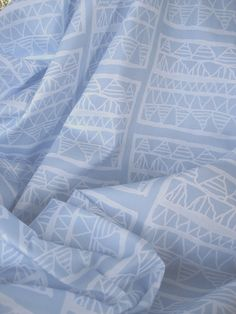 And this is how 'Pale blue registers' looks in close up, printed on cotton sateen by Spoonflower. #Su_G