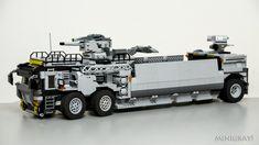 Super heavy truck by MiniGray! Lego Spaceship, Lego Robot, Lego Zombies, Lego Wheels, Lego Truck, Lego Army, Lego Ship, Lego Mechs, Lego Construction