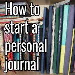 How to start a personal journal
