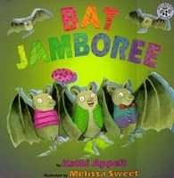 A collection of bat-themed books...
