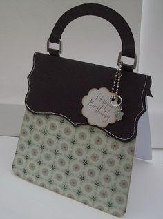 Handbag Birthday #card by Vicky Sheridan