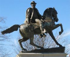 Monument Avenue Richmond Virginia General J.E.B. Stuart ~ photograph by Jerre Bennett