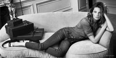 Daria Werbowy Lounges In Net-a-Porters Fall 2014 Campaign
