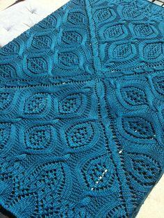 Free Knitting Pattern for Serenity Blanket