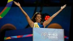 First Lady Michele Obama opens the Special Olympics World Summer Games in Los Angles