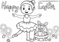 Top 5 Preschool Ballet Easter songs and activities. Easter is such a fun theme to incorporate into your Preschool Ballet classes. Looking for some fun Preschool Ballet Easter songs and activities… Dance Coloring Pages, Easter Coloring Sheets, Easter Colouring, Colouring Sheets, Dance Picture Poses, Dance Pictures, Abc Dance, Dance Camp, Easter Songs