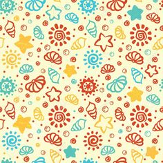 previews.123rf.com images transiastock transiastock1303 transiastock130300058 18587494-Summer-shell-pattern-Stock-Vector-sea-pattern-hawaii.jpg