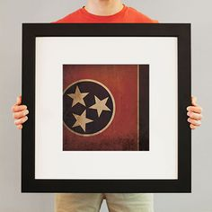 Tennessee Flag   City Prints Map Art