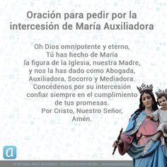 Dos oraciones para invocar la protección de María Auxiliadora. Holy Rosary, Faith Prayer, Believe, Prayers, Religion, God, Quotes, Accessories, Saints