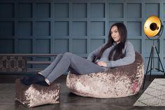 Lounge Pug®, Klassieke Zitzak Stoel, Poef, Vintage Fluwelen Truffle – Big Bertha Original NL Lounge, Big Bertha, Elegant, Bean Bag Chair, The Originals, Vintage, Furniture, Home Decor, Velvet