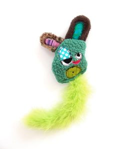 Cat Toy with Organic Catnip Feathers & Crinkle by fuglyfriend, $12.99