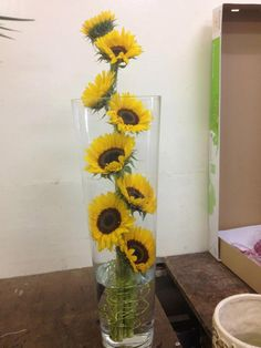 Sunflowers in vase...
