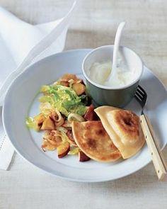 Potato Pierogi With Sautéed Cabbage and Apples