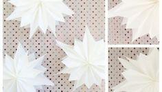 Sterne aus Butterbrotpapier, ratzfatz gemacht!