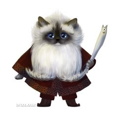 Dwarf Cat and his legendary sword, the 'Anchovyl'