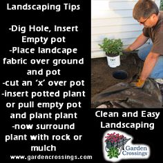 Easy landscaping tips with simple clean up