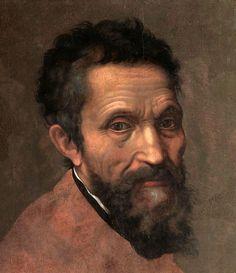 Retrato de Miguel Ángel  Buonarroti al oleo, hecho por Daniele da Volterra en 1544