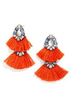 'Ferebee' Tassel Drop Earrings