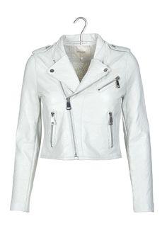 Veste cuir blanche