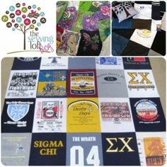 """{How To} Memory Quilt - part 2 stitching  This easy """"how to"""" will have your concert, vacation or sports tees whipped into a quilt in no time flat!"""