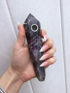 I need this! ♡Pinterest&Instagram:@goddessbonbon  Long Dream Amethyst Crystal Wand Pipe