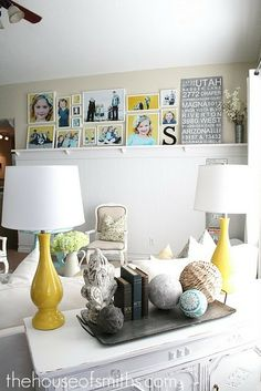 Yellow Gallery Wall Layout with IKEA frames Decorating On A Budget, Interior Decorating, Interior Design, Photowall Ideas, Ideas Vintage, Gallery Wall Layout, Gallery Walls, Room Decor, Wall Decor