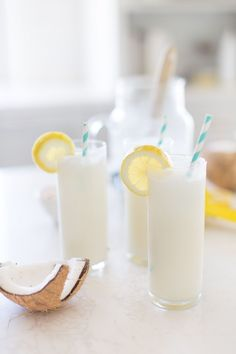 Coconut Lemonade: The BEST summer refresher! You can even add vodka!