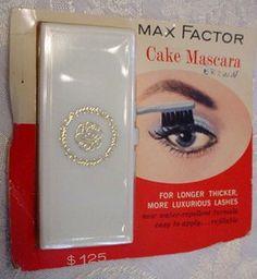 Max Factor - Compact 'Mascara Cake' - Vintage