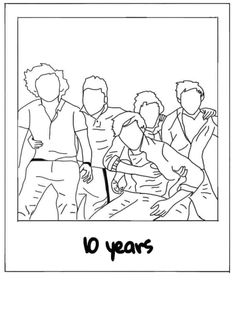 One Direction Drawings, One Direction Images, One Direction Wallpaper, One Direction Humor, I Love One Direction, Do It Yourself Upcycling, Desenhos One Direction, Aesthetic Stickers, Picture Wall