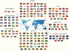 Vector Art : Flags of all countries in the world