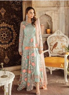 Buy Imrozia Kaavish-E-Musavvir Luxury Chiffon Collection 2019 – 804 Jalwa-e-Husn featuring Minal Khan at YourLibaas. Shop online for Pakistani Party Wear Chiffon Suits. ✓ Cash On Delivery ✓ Original Pakistani Dress Pakistani Party Wear, Indian Party Wear, Pakistani Bridal Dresses, Pakistani Dress Design, Pakistani Outfits, Indian Outfits, Pakistani Clothing, Net Gowns Pakistani, Pakistani Designer Clothes