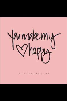 You make my ❤ happy