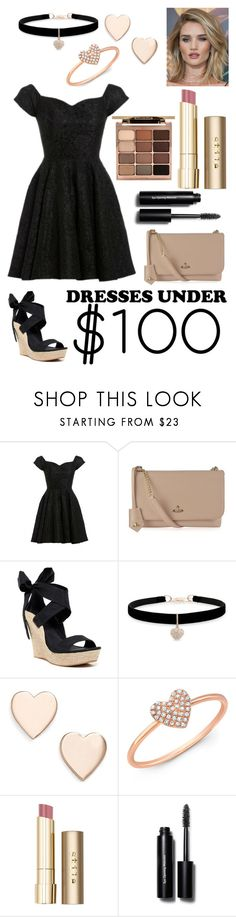 """""""dresses under $100"""" by doggyrules on Polyvore featuring D.anna, Whiteley, Vivienne Westwood, UGG Australia, Betsey Johnson, Poppy Finch, Anne Sisteron, Stila and Bobbi Brown Cosmetics"""