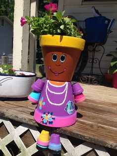 Flower Pot people made for Mother's Day