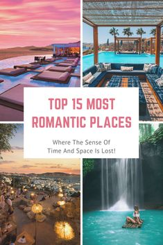 Get ready to explore the most romantic destinations (in no particular order!) and spend some wonderful time. Choose your dream destination for your honeymoon or a romantic break to remember forever!. Beautiful romantic destinations. #romanticdestinations #romanticgetaways #romanticplacestotravel #honeymoon #honeymoongetaways #honeymoondestinations #romanticplaces Romantic Destinations, Romantic Vacations, Romantic Getaways, Romantic Travel, Travel Destinations, Travel Couple, Family Travel, Travel Inspiration, Travel Ideas