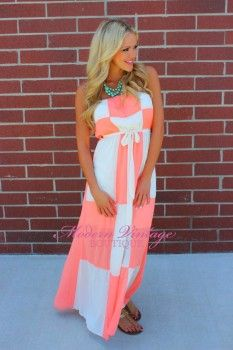 Check Mate Maxi Dress Coral