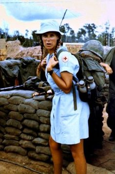 Donut Dolly ready to go. Vietnam, #VietnamWarMemories