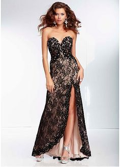 Stunning Lace Sweetheart Neckline Floor-length A-line Prom Dress