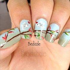 Nail art.. this would be pretty on just the large toe nails...