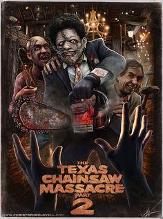 The Texas Chainsaw Massacre Part 2 Horror Movie Slasher