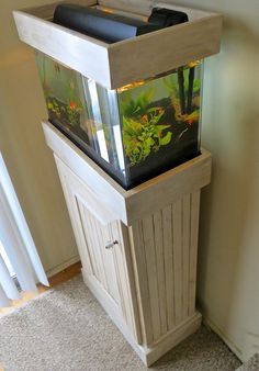 The Project Lady: Custom Wood Aquarium Stand & Hood Project